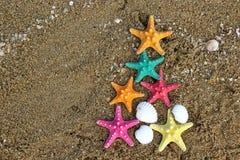 Natale e nuovo anno 2014 sulla spiaggia Immagine Stock