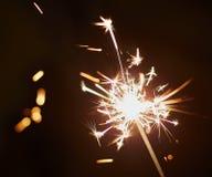Natale e stella filante newyear del partito Fotografie Stock