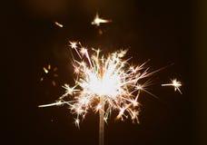 Natale e stella filante newyear del partito Fotografia Stock