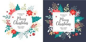 Natale ed elemento del nuovo anno, manifesto per la vostra progettazione fotografie stock