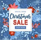 Natale ed elemento del nuovo anno, manifesto per la vostra progettazione immagini stock