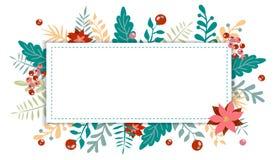 Natale ed elemento del nuovo anno, manifesto per la vostra progettazione fotografia stock