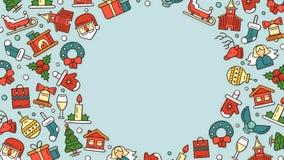 Natale ed illustrazioni del nuovo anno per le feste royalty illustrazione gratis