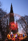 Natale Edinburgh Fotografia Stock