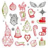 Natale, elementi di progettazione Fotografie Stock Libere da Diritti