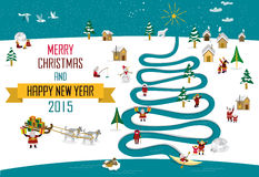 Natale 2015_english del nuovo anno di Skimos royalty illustrazione gratis