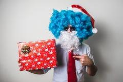Natale engraçado do babbo de Papai Noel fotografia de stock royalty free