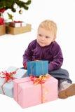 Natale - esamini tutti i miei presente Fotografie Stock Libere da Diritti