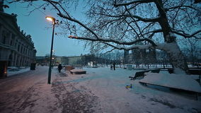 Natale europeo, Berlino video d archivio
