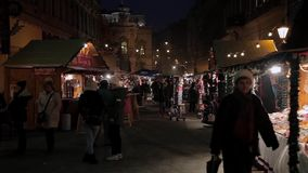 Natale europeo, Budapest video d archivio