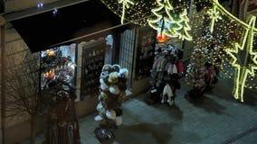 Natale europeo, Budapest stock footage