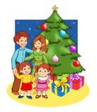 Natale in famiglia Fotografia Stock