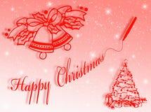Natale felice illustrazione di stock
