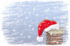 Natale felice della bufera di neve royalty illustrazione gratis
