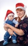 Natale felice della famiglia Immagine Stock