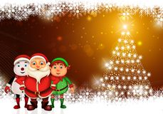Natale felice di Buon Natale, Santa con rendeer fotografie stock libere da diritti