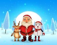 Natale felice di Buon Natale, Santa con rendeer immagine stock