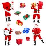Natale felice Santa Immagini Stock Libere da Diritti