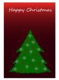 Natale felice su fondo bianco Fotografia Stock Libera da Diritti
