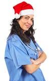 Natale femminile del medico Fotografie Stock