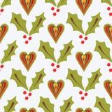 Natale festivo Holly Berries illustrazione vettoriale