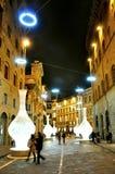 Natale a Firenze, Italia Fotografia Stock Libera da Diritti