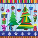 Natale fissato (24 elementi) Fotografie Stock Libere da Diritti