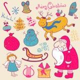 Natale fissato Immagini Stock Libere da Diritti