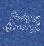 Natale fondo, iscrizione di Buon Natale Fotografie Stock Libere da Diritti
