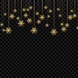 Natale fondo o invito con i fiocchi di neve d'attaccatura Progettazione del buon anno e di Buon Natale Simbolo della celebrazione immagine stock libera da diritti