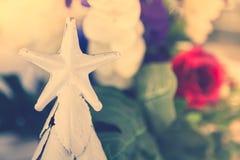 Natale a forma di stella (vintag elaborato immagine filtrato immagini stock