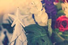 Natale a forma di stella (vintag elaborato immagine filtrato immagine stock libera da diritti
