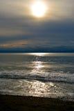 Natale francese della spiaggia Fotografie Stock Libere da Diritti