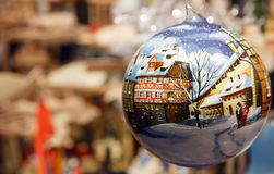 Natale in Germania in una palla Fotografia Stock