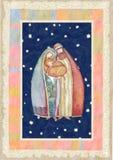 Natale: Gesù Cristo, Joseph, Mary illustrazione di stock