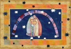 Natale: Gesù Cristo, Joseph, Mary Fotografia Stock Libera da Diritti