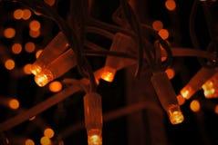 Natale giallo e fondo della luce arancio Immagine Stock Libera da Diritti