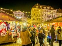 Natale giusto alla città Hall Square a Tallinn fotografie stock