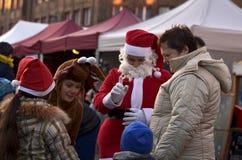 Natale giusto in Nikiszowiec Fotografie Stock
