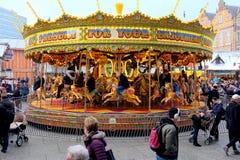 Natale giusto, Nottingham, Regno Unito fotografia stock