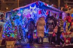 Natale giusto a St Petersburg, Russia Immagini Stock Libere da Diritti