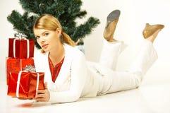 Natale Gril Fotografie Stock