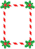 Natale Holly Border Immagine Stock
