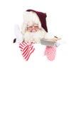 Natale il Babbo Natale come cuoco Immagine Stock