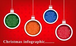 Natale infographic Immagine Stock Libera da Diritti