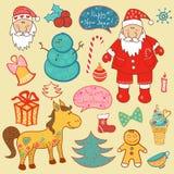 Natale, insieme del nuovo anno Fotografie Stock