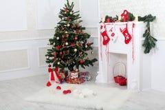 Natale interno Fotografia Stock Libera da Diritti