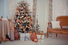 Natale interno Fotografie Stock Libere da Diritti