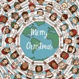 Natale intorno al mondo Fotografia Stock Libera da Diritti