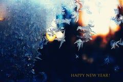 Natale, inverno, neve, bianco, fiocco di neve, freddo, finestra, gelo, Fotografia Stock Libera da Diritti